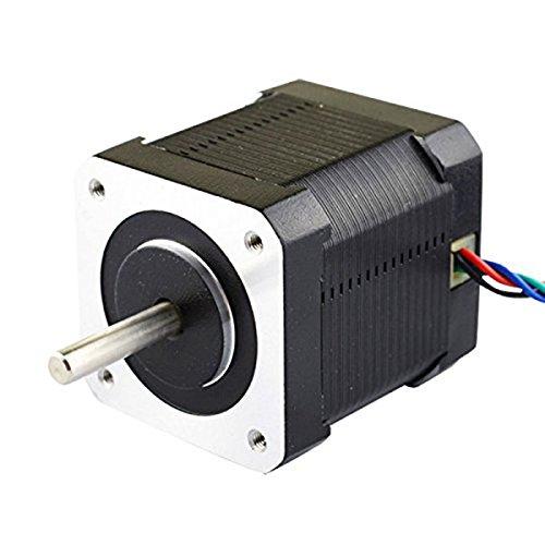 NICERIO NEMA 17 Schrittmotor Bipolar 2A 59Ncm (84oz.in) 48mm Gehäuse 4-polig für 3D Drucker/CNC