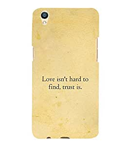 PrintVisa Designer Back Case Cover for Oppo F1 Plus :: Oppo R9 (Love Quotation :: Find Quotation :: Quote :: Hard Quotation :: Beautiful Quotation)