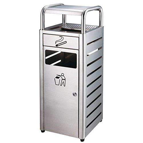 Hhwjjxb l'angolo all'aperto d'acciaio inossidabile di angolo quadrilatero che fuma la pattumiera all'aperto di protezione ambientale della cenere può quadrato con la scatola di riciclaggio della sigar