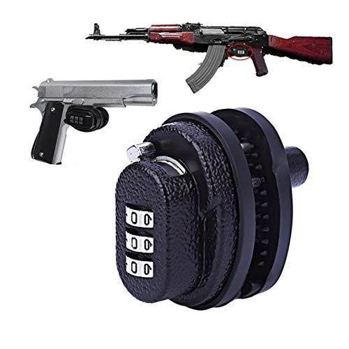 Z-Shine Waffenschloss, 3-stelliges Zahlenschloss Trigger Lock, Gun Lock fürPistolen, Gewehre und Schrotflinten Password Lock -