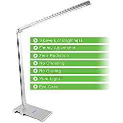 Desk Lamp, infinilla LED Table Light Metal Body Touch Control Dimmable Lighting for Home Bedroom Office and Study 5 W Adjustable Arm