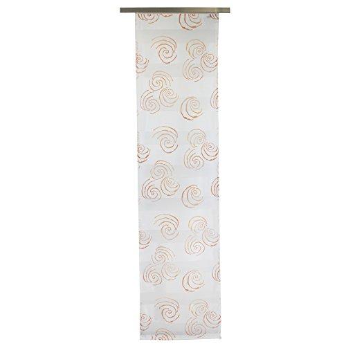 Gözze Schiebevorhang, Transparent, 60 x 245 cm, Marokko, Orange, 66022-36-6045 - Vorhänge 36 Wohnzimmer