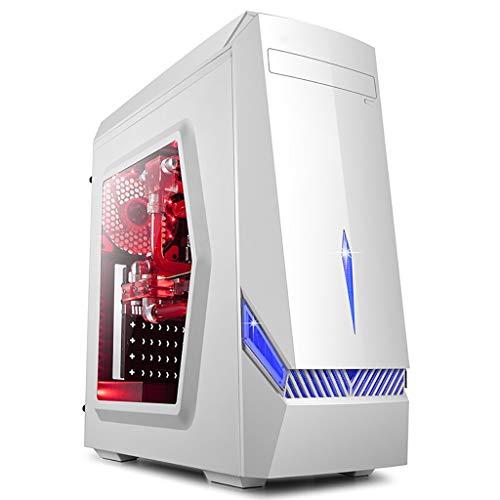 XZ15 PC PC-Gehäuse for mittelgroße Tower-Spiele, ATX/M-ATX/Mini-ITX / U3 / SSD, Unterstützungslüfter und wassergekühltes, gehärtetes Glas, weiß (Color : White)