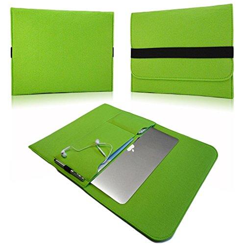 NAUC Laptoptasche Sleeve Schutztasche Hülle für Tablets Macbook Netbook Ultrabook Laptop Case in verschiedenen Farben kompatibel mit z.B. Samsung Apple Asus Medion Lenovo uvm., Farben:Grün, Für Notebook:Sony VAIO VPC-Z21C5E