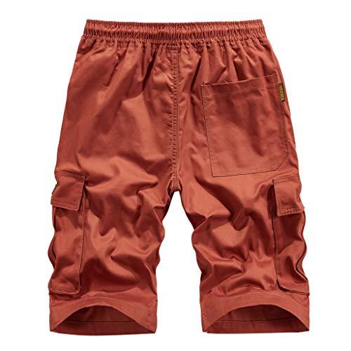 ITISME Pantaloni Corti Uomo Bermuda All'aperto Salopette Casual Cargo Pantaloncini Uomo Colore Puro Lavoro Pantaloni Tasconi Spiaggia Pantofole Estive Casual Pantaloni Sportivi