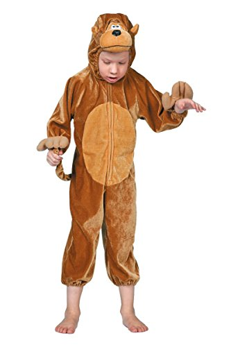 Kinder Kostüm Affe Affenkostüm Schimpanse Karneval Fasching Gr.128