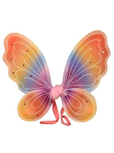 (Flügel Engel Schmetterling Fee Kostüm Schmetterlingsflügel Glitter Regenbogen)
