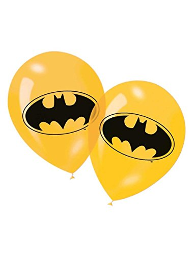 Generique - 6 gelbe Latexballons Batman