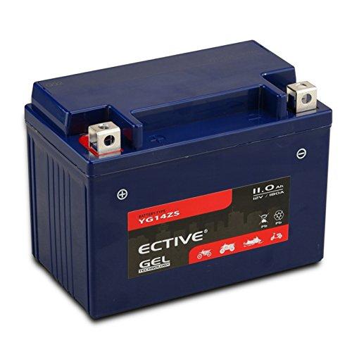 ECTIVE GEL Motorradbatterie | 13 Varianten: 5Ah - 21 Ah | 12V GEL-Motorradbatterie absolut wartungsfrei | Premium Powersports Motorradbatterien in Erstausrüster-Qualität (11Ah YG12AL-A)