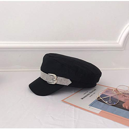 mlpnko Fashion Cap Flat Top Hut Sea Shade Newsboy Hut schwarz verstellbar (Top College Kostüm Jungs)