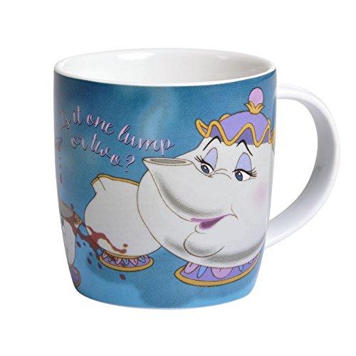 Die Schöne und das Biest Tasse Madame Pottine Tassilo Disney 350ml Keramik blau (Kaffee-prinz-becher)