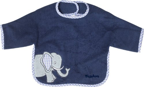 Playshoes 507461 Aermel-Laetzchen aus Webfrottier, Motiv Elefant, Mae, circa 39 x 30 cm blau