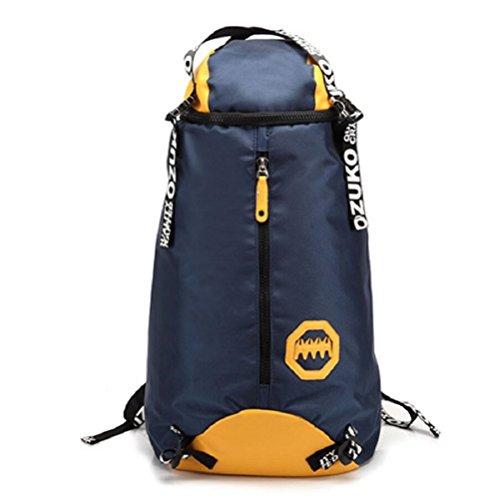 LF&F Wasserdichtes Oxford Tuch modische männliche Tasche kreative Outdoor Bergsteigen Tasche Freizeit Reise Rucksack große Kapazität Laptop Rucksack Schule Sport Rucksack E