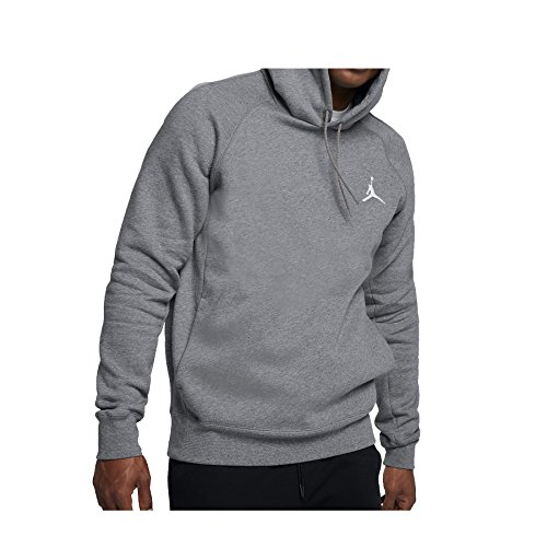 Nike Mens Jordan Flight Pull Over Hooded Sweatshirt Carbon Heather/White NK823066-091 Size 2X-Large
