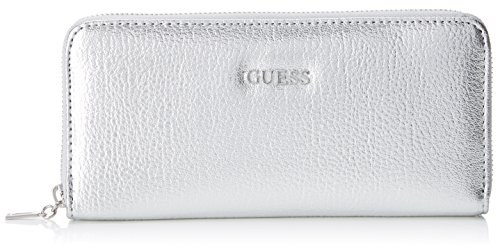 Guess Damen Slg Wallet Geldbörse, Silber (Silver), 2x10x20 centimeters