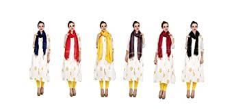 EthnicAlive Women's Viscose Bhagalpuri Ethnic Dupatta (ETHDPASSORTED_1, Assorted Colour, Free Size)