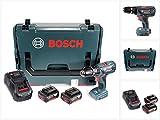 Bosch GSB 18-2-Li Plus Professional 18 V Akku Schlagbohrschrauber + 2 x 3,0 Ah Akku + Ladegerät in L-Boxx