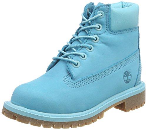 Timberland Unisex Kinder 6 inch Premium Waterproof Klassische Stiefel, Blau (Scuba Blue Waterbuck 414), 32 EU
