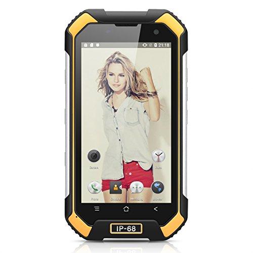 "Blackview BV6000S 4G Smartphone Android 6.0 MT6735 Quad-core 1.3 GHz 4.7""HD 720*1280 Pixels 2GB ROM 16GB RAM 4200mAh 5 Punti Doppio Micro SIM GPS Bluetooth BT4.1 FM Impermeabile Shockproof Antipolvere Bussola Giallo"