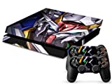 MightyStickers? PS4 Designer Skin Game Console System plus Two(2) Controller Decal Vinyl Protective Covers Stickers for Sony PlayStation 4 - Anime Mecha Mobile Suit Gundam Wing E.F.S. Force Prototype by MightySticker?