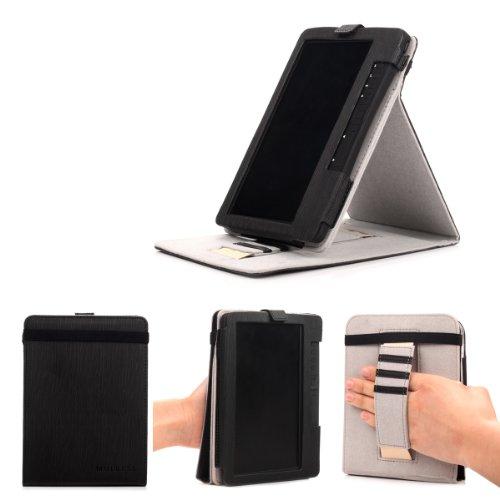 Mulbess - TrekStor eBook Reader 3.0 Stand Case - Custodia in pelle Con Supporti Stand per TrekStor eBook Reader 3.0 Colore Nero