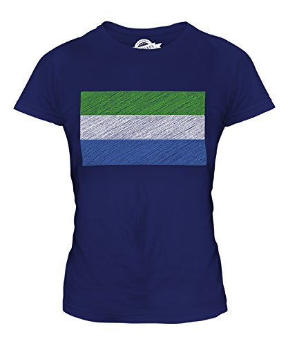 Candymix - Sierra Leone Scribble Flag - Ladies Fitted T Shirt Top T-Shirt