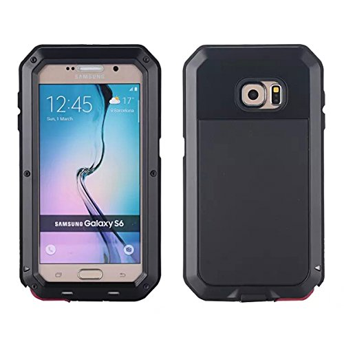 Wendapai Samsung Galaxy S6 G9200 wasserdicht Hülle, IP-68 wasserdicht stoßfest Dust Proof Snow Proof Full Body Schutz Hülle Hülle zum Samsung Galaxy S6 G9200 Screen - Black