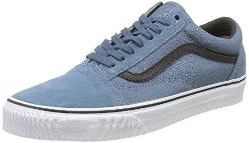 Vans Old Skool Scarpe da skater, Basse, Unisex, Adulto, Blu (C&P Blue Mirage/True White), 44