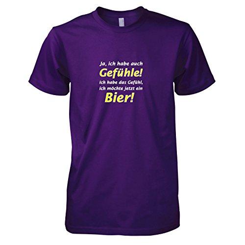TEXLAB - Bier Gefühl - Herren T-Shirt Violett