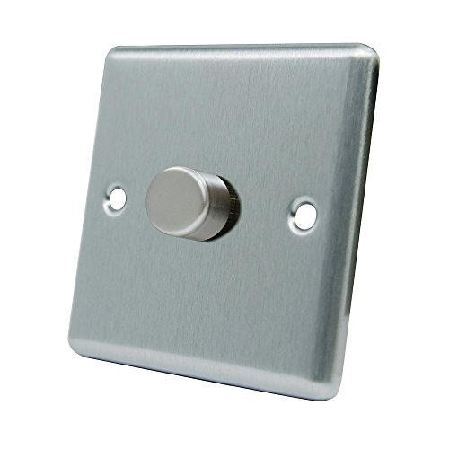 AET CSC1GDIM40 10 A 400 W 1-Gang 2-Way Satin Finish Chrome Classical Single Light Dimmer Switch by AET (4 Way Light Switch)