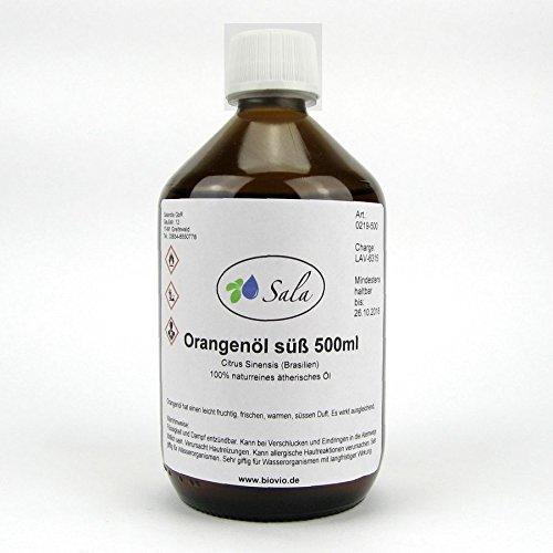 Sala Orangenöl ätherisches Öl süß kaltgepresst naturrein 500 ml