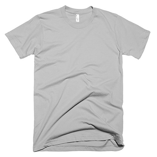 American Apparel Unisex Baumwoll-T-Shirt, Kurzarm Aubergine