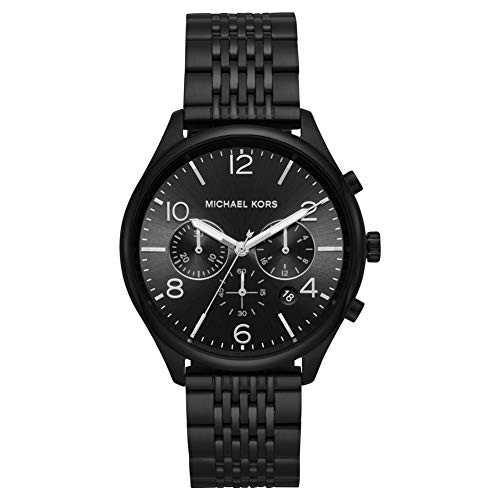 Michael Kors Herren Chronograph Quarz Uhr mit Edelstahl Armband MK8640