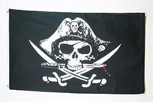 DRAPEAU PIRATE SABRES 90x60cm - DRAPEAU CORSAIRE 60 x 90 cm - DRAPEAUX - AZ FLAG