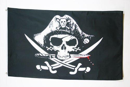 AZ FLAG Bandera Pirata SABLES 90x60cm - Bandera con Calavera 60 x...