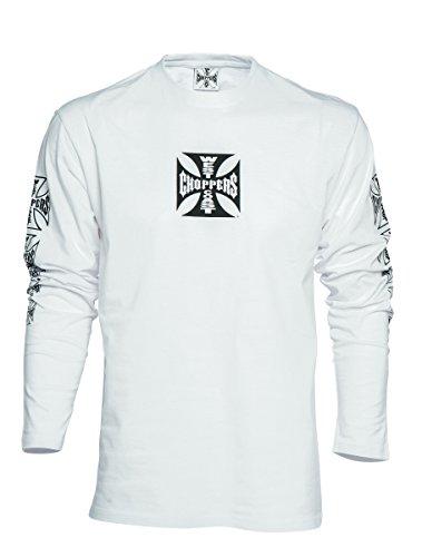 West Coast Choppers T-Shirt Longsleeve OG Cross , Größe:M, Farbe:white