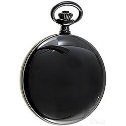 Savonnette Sprungdeckel Taschenuhr schwarz Quarz ITRR-31952bl