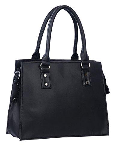CNK Leather Casual || Formal Leather Handbag For Women/Girls (Black)