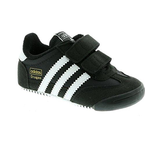 adidas Unisex Baby Dragon L2w Crib Sneakers Schwarz (Core Black/ftwr White/core Black)