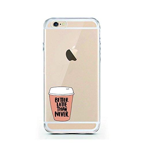 iPhone 5 5S SE Hülle von licaso® für das Apple iPhone 5 5S SE aus TPU Silikon Muster Better Latte Than Never Cafe Frühstück Macchiato ultra-dünn schützt Dein iPhone 5 & ist stylisch Schutzhülle Bumper Better Latte Than Never