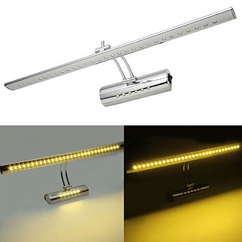 Cozyline-specchio-anteriore-luce-lampada-da-parete-bagno-lampada-7-W-5050-SMD-LED-bianco-caldo