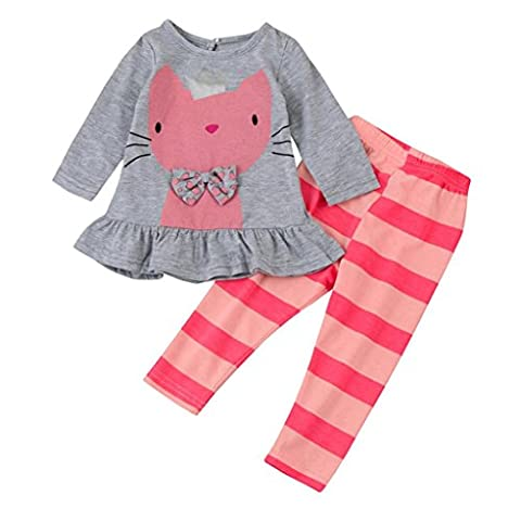 TIREOW Soft and Comfy Cute Casual Organic Cotton Cat Pattern