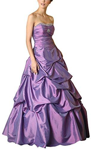Romantic-Fashion Damen Ballkleid Abendkleid Brautkleid Lang Modell E465 A-Linie Perlen Pailletten DE...