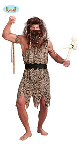 Höhlenmensch Kostüm für Herren Gr. M-L, - Urmensch Kostüm