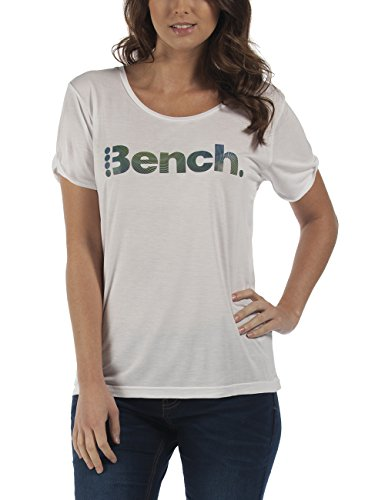 Bench DUENNA-T-shirt  Donna    Weiß (Bright White WH001) 44