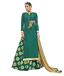 Viva N Diva Silk Lehenga Choli (Green_Free Size)