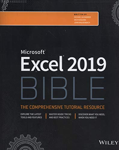 Excel 2019 Bible (Bible (Wiley))