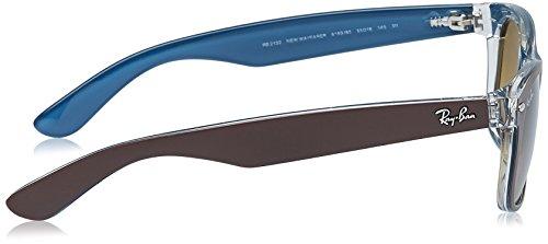 Ray-Ban - Lunettes de Soleil RB2132 New Wayfarer Wayfarer 55 mm Top Mt Chocolate On Blue