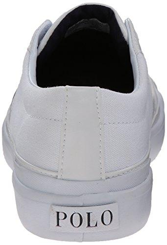 Ralph Lauren Mens Churston SK VLC Textile Trainers Pure White