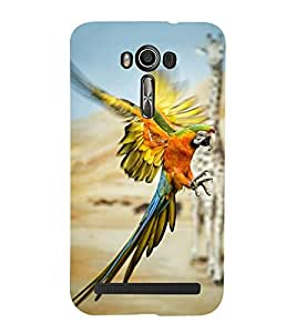 Vizagbeats flying parrot Back Case Cover for Asus Zenfone 2 Laser ZE550KL::Asus Zenfone 2 Laser ZE550KL (5.5 Inches)